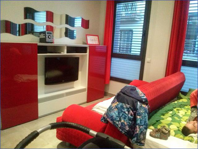 Barcelona apartman ház - nappali
