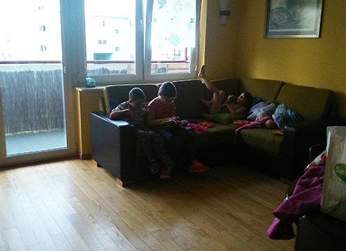Varsó apartman ház - nappali